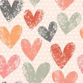 Brillante modello senza saldatura romantica fatta di cuori colorati — Vettoriale Stock