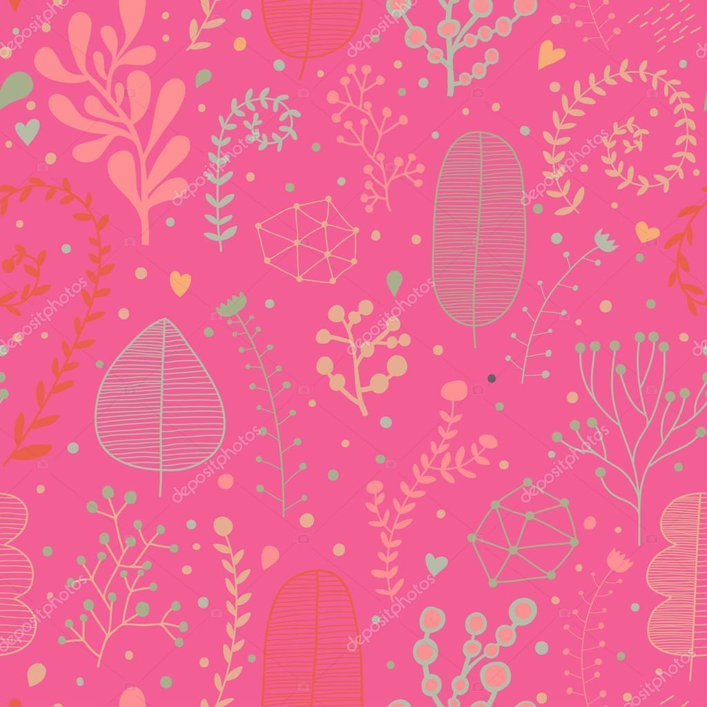 Elegante Patrón Inconsútil Floral En Colores Brillantes