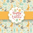 Happy easter card in vector. — Stock Vector #44301875