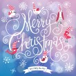 Fantastic Merry Christmas card in vector. — Stock Vector #44302103