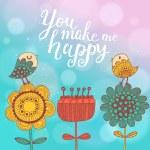 You make me happy. — Stock Vector #44302487