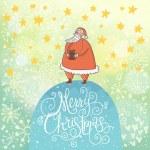Merry Christmas card in vector. — Stock Vector #44302547