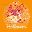 Bright Halloween card in vector. — Stock Vector
