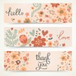 Three stylish floral banners. — Stock Vector