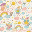 Childish bright seamless pattern — Stock Vector #44304067