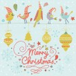 Merry Christmas card in vector. — Stock Vector