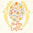 Happy Easter concept card. — Stock Vector