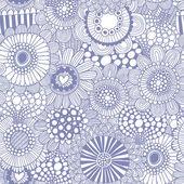 Stylowy wzór z przepięknych kwiatów — Wektor stockowy