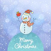 Jasny karta Boże Narodzenie i nowy rok — Wektor stockowy