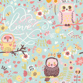 Bright spring seamless pattern in pastel colors. — Stockvektor