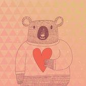 Cute koala bear in hipster style. — Stock Vector
