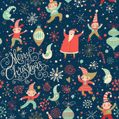 Stylish Merry Christmas seamless pattern — Stock Vector