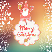Funny Santa Claus in bright background — 图库矢量图片