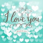 I love you. — Vector de stock