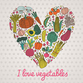 I love vegetables. — Stock Vector