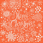 Bright Merry Christmas card in vintage style. — Stock Vector
