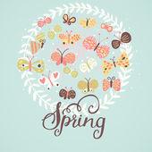 春天的概念图. — 图库矢量图片