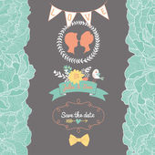 Gentle Save the Date card — Stock Vector
