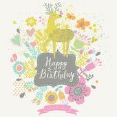 Stylish Happy Birthday card in vector. — Stock Vector