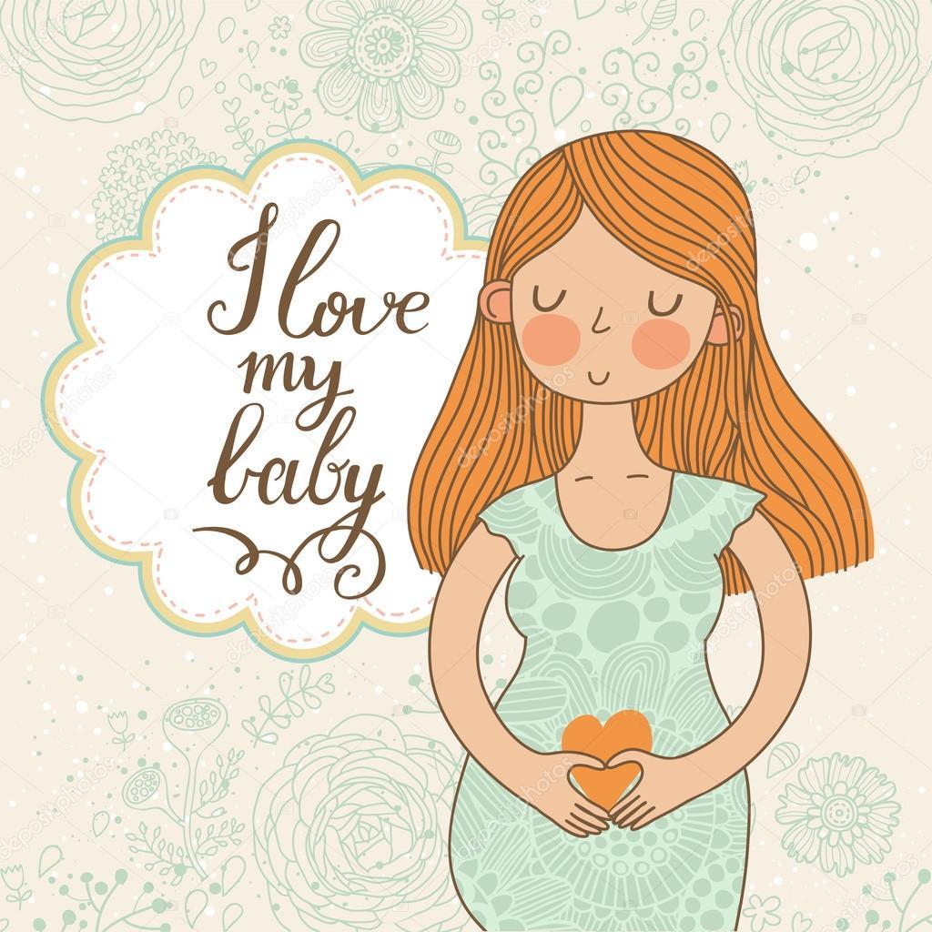 Открытки с беременной женщиной 393