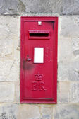 Red post box — Stockfoto
