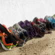 Stock Photo: Row of running shoes