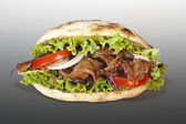 Doner kebab sandwich — Stock Photo