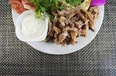 Döner Kebab mi Salat — Stock Photo