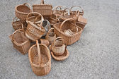 A pile of baskets are on the ground — Stockfoto