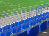 Grandstand stadium and rugby field — Stock Photo