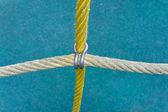 Ropes fastened by a clamp — Stock Photo