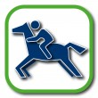 Stock vektor: Horse riding icon