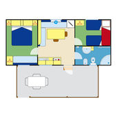 Apartment plan — Wektor stockowy