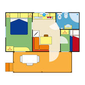 Apartment plan — Stock Vector
