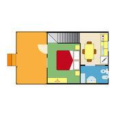 план квартиры — Cтоковый вектор