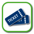 Ticket icon — Stockvectorbeeld