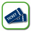 Ticket icon — Stock vektor