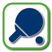 Table tennis icon — Stock Vector