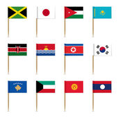 Set of international flags — Stock Vector