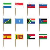 Set of international flags — Stock Vector