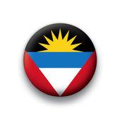 Vector bandeira botão série de todos os países soberanos - antígua e borbuda — Vetorial Stock