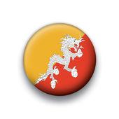 Vector bandera botón serie de todos los países soberanos - bhután — Vector de stock
