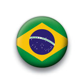 Vector bandeira botão série de todos os países soberanos - brasil — Vetorial Stock