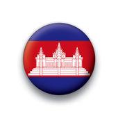Vector bandera botón serie de todos los países soberanos - camboya — Vector de stock