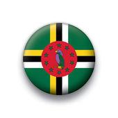 Vector bandiera pulsante serie di tutti i paesi sovrani - dominica — Vettoriale Stock