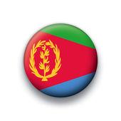Vector flag button series of all sovereign countries - eritrea — Stock Vector