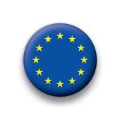 Vector flag button series of all sovereign countries - European Union — Stock Vector