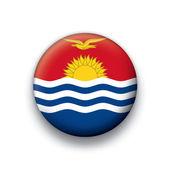Vektor flagga knappen rad alla suveräna stater - kiribati — Stockvektor