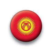 Vector bandera botón serie de todos los países soberanos - kirguistán — Vector de stock