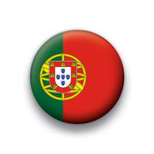 Flaga wektor przycisk serii suwerenne kraje - portugalia — Wektor stockowy